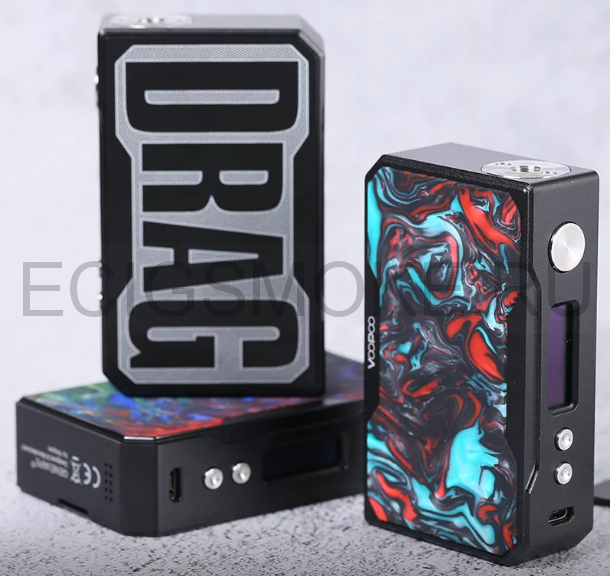 VOOPOO DRAG 157W TC Black Resin бокс мод оригинал